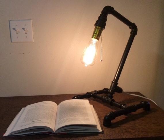 Items Similar To Galvanized Light Rustic Industrial: Items Similar To Black Steel Pipe Lamp, Desk Lamp