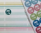 Meeting, Calendar, Date {Teacher Lesson Planner Stickers #111}