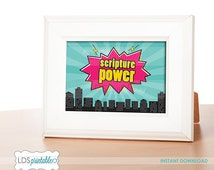 PRP005 - Scripture Power LDS Primary Printable Multiple Sizes 4x6 5x7 8x10
