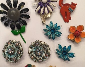 Destash: Vintage Enamel Pins and Earrings