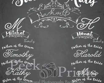 8ftx8ft Wedding Picture Frame Photo Prop Chalkboard Backdrop- Wedding Backdrop - Event Backdrop - Wedding Background