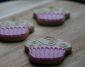 Birthday Cupcake cookies - golden cupcake cookies - One Dozen