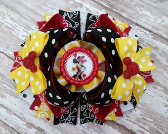 "5"" minnie mouse hairbow READY TO SHIP"