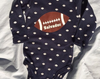 Personalized Football Bodysuit for baby.