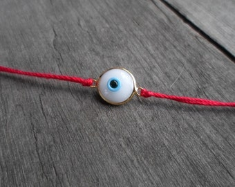 Evil Eye Bracelet / Kabbalah Bracelet / Mens Evil Eye Bracelet / Womens Evil Eye Bracelet / Friendship Bracelet / Red String Bracelet