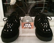 Customised Black spiked creepers shoes
