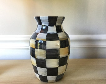 Sophisticated hand painted vase