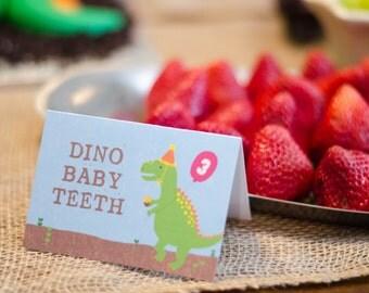Dinosaur Party Food Signs, Dinosaur Birthday, Dinosaur Printable Food Signs, Food Signs, Dinosaur Party