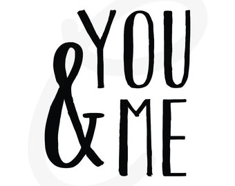 """Wall Decal- """"You & Me"""" Vinyl Wall Decal-Style 02"""