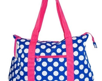Bridesmaid gift  Monogrammed Ladies dot Tote Bag 6 bags included,bridesmaid,Tote bag coin purse,personalized bridesmaid gift, Wedding gifts,