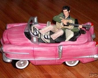 Elvis Pink Cadillac Cookie Jar