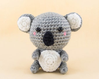 Koala Bear Amigurumi  -- Koala Bear plush for desk decor and home decor