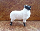 Beswick Black Faced Lamb, Beswick Farm Animals, Beswick 1828, English Ceramics, Collectible Ceramics, Lamb Figurine, Vintage Beswick