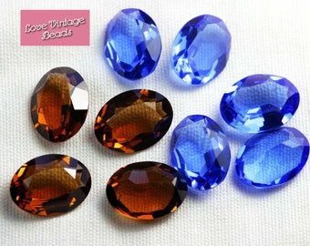 1x Large Swarovski Stone 4100 Smoked Topaz Coloured Unfoiled Crystal Ideal for Bezelling 20mm x 15mm