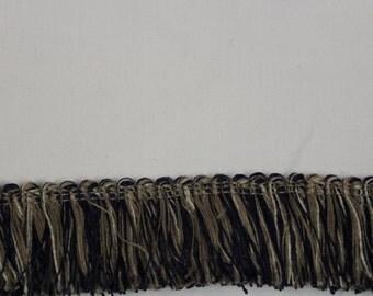 Mingled Navy and Taupe Fringe- Decorative Trim 867