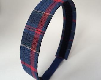School Uniform Headband- Custom Plaid Uniform Headbands #11