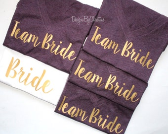 Bridal Party Shirt Set. Bridal Party shirts. Bridal Party Tanks. Bridesmaid Shirt. Bride Shirt. Maid of Honor. Bridal party. Wedding.