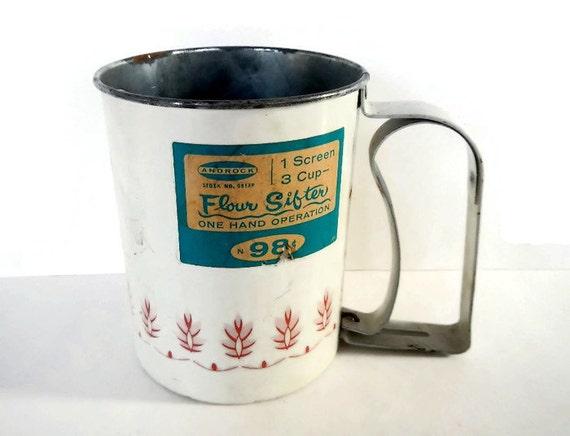 Vintage flour sifter androck usa