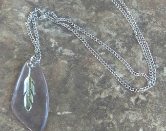 Feather Glass Necklace