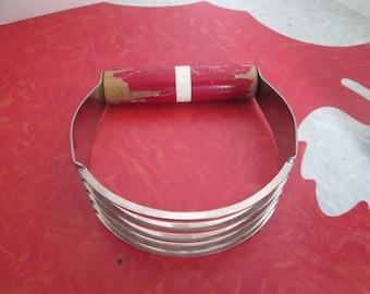 Red Wood Handle Dough Blender/Cutter