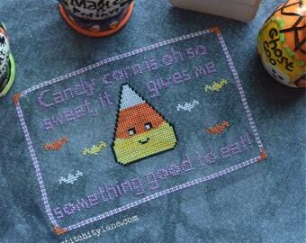 Sweet Candy Corn a Cross Stitch Pattern