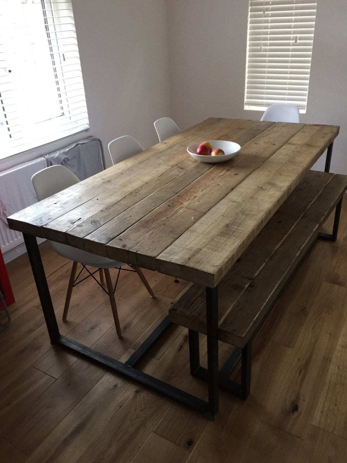 Reclaimed Industrial Chic 6 8 Seater Solid Wood And Metal