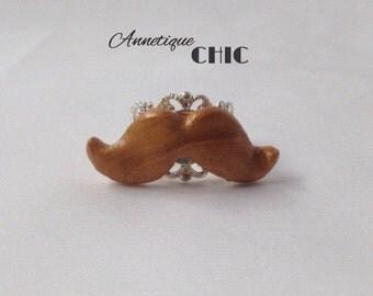 Golden Moustache Ring