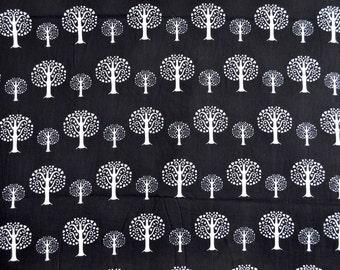 Tree print tribal fabric screen print cotton fabric by Yard