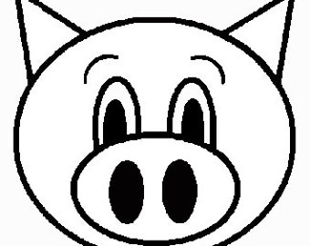 Oinkers the Pig Embroidery File