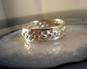Celtic-Irish Woven, Wedding Band, Handmade, .925 Sterling, SZ-12