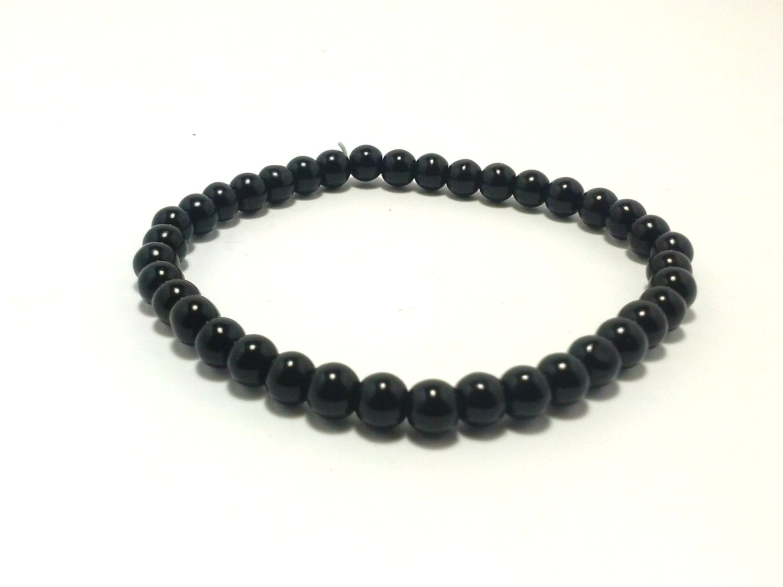 shop closing black obsidian bracelet black by shamisesblissful