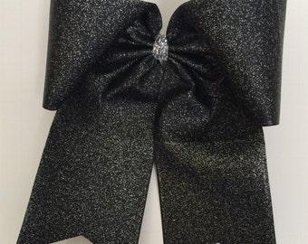 Black Sparkle Cheer Bow