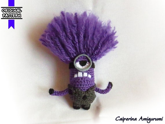 Purple Minions Despicable Me 2 amigurumi