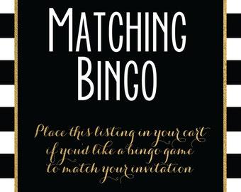 Matching Bingo Game