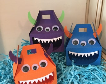Monster favor boxes