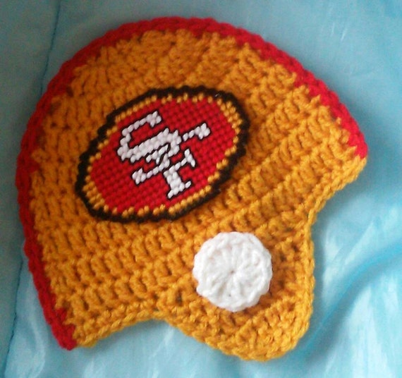 Crochet 49ers Football Team Helmet Potholder Pattern Only