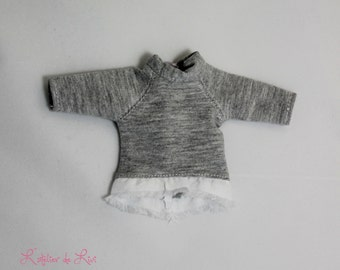 Sweatshirt for blythe or other similar doll (sweater for blythe or similar doll)