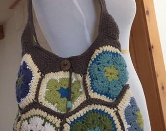 Boho Crochet Shoulder Bag