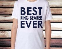 Best Ring Bearer Ever T-Shirt - Boys T-Shirt - Toddler Ring Bearer Shirt