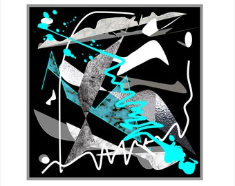 """Printable Abstract artwork """"Splashes"""" 24"""" x 24"""" in."""