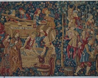 A SUPERB Rare Antique French Tapestry - 204cm x 118cm