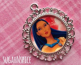 Pocahontas Pendant - Disney Princess Pendant - Pocahontas Charm - Pocahontas Necklace Pendant - Princess Charm - Pocahontas Jewelry