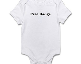 Free Range Embroidered baby bodysuit