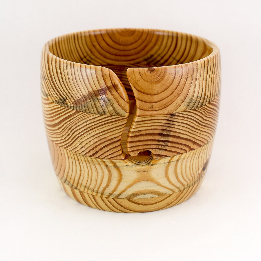 Knitting Bowls Wood : Large yarn bowl wood round guide with by