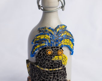 Wild Bird Mosaic Bottle