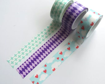 Washi tape set (3 rolls)