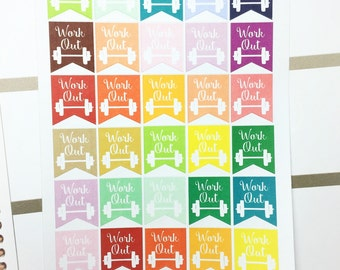 Work Out Stickers /Planner Stickers/ 35 Count