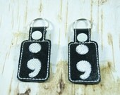 Project Semicolon keychain holder -Mental Health Awareness - Awareness
