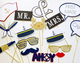 Nautical Wedding Photo Props