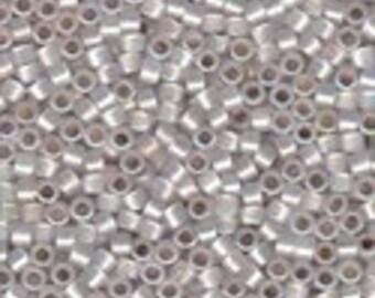 MIYUKI #11 Delica 223 - Silver Lined White Opal AB - 5 grams